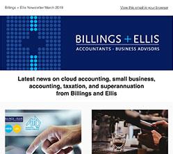 Billings + Ellis - newsletter March 2019
